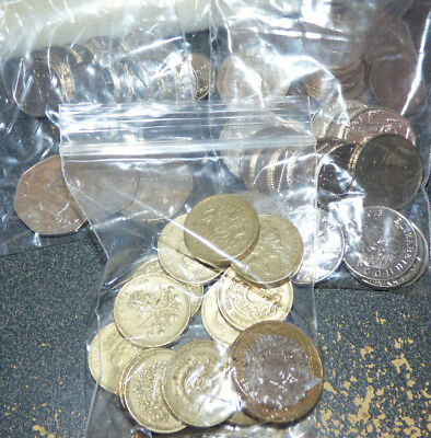 Great Britain, UK, 24.70 British Pounds in Mixed Circulated Coins, Exchange Lot