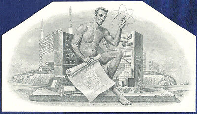AMERICAN BANK NOTE Co. ENGRAVING: 018 NUCLEAR POWER