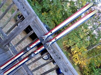 Vintage K2 Three Red White and Blue Skis