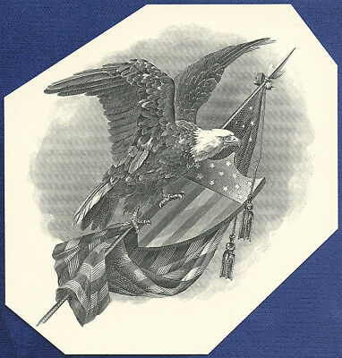 AMERICAN BANK NOTE Co. ENGRAVING: 7th REGIMENT EAGLE