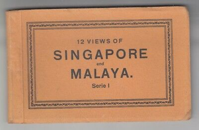 Straits Settlements Old Postcard Book 12 Views Of Singapore And Malaya 1 !!