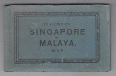 Straits Settlements Old Postcard Book 12 Views Of Singapore And Malaya 2 !!