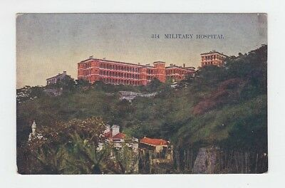 China Hongkong Old Postcard Military Hospital Hong Kong !!