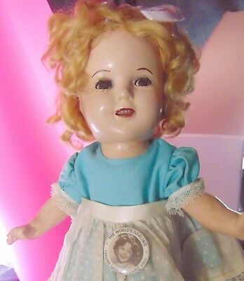 Ideal Shirley Temple Composition Doll Pinback Restore Dollmaker Craft Movie Star