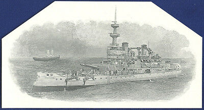 AMERICAN BANK NOTE Co. ENGRAVING: 027c  ARMORED CRUISER?
