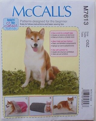 McCalls 7613 Learn To Sew Beginners Cat Dog Beds Sewing Pattern
