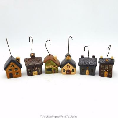 The Salem Collection - MINI RESIN HOUSE ORNAMENTS ~ Set of 6