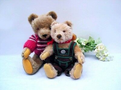 STEIFF TEDDY with friend, 22/28 cm with button