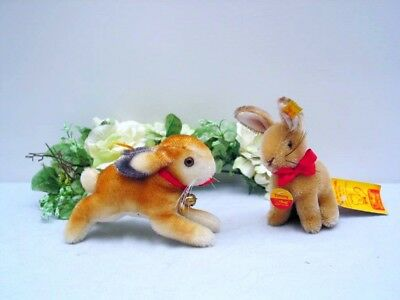STEIFF RABBIT 1948 and TIMMY, 10/14 cm both with all ID's