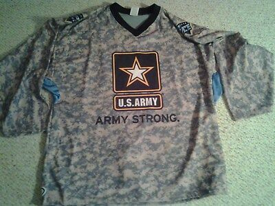 Indiana Ice Specialty Army Strong Hockey Jersey XXL USHL Defunct