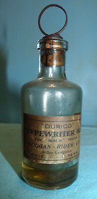 Vintage Durico's Typewriter Oil bottle with Paper Label