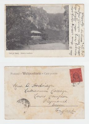 China Old Postcard San Yu Tung Rohdes Country House Hankow To England 1904 !!