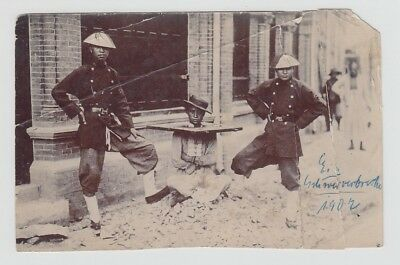 China Old Photo Chinese Police With Prisoner 1902 !!
