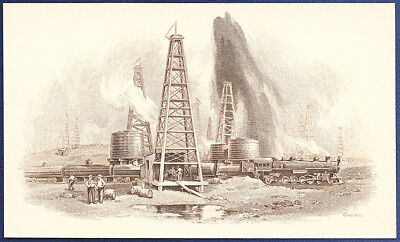 AMERICAN BANK NOTE Co. ENGRAVING: OIL WELLS