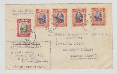 China Old Cover Envelope Miri To Western Germany 1949 !!