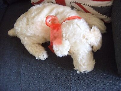 Vintage Merrythought Terrier Dog Nightdress Case Cuddly Toy Reg Design Antique