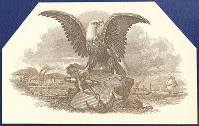 AMERICAN BANK NOTE Co. ENGRAVING: EAGLE WITH ANCHOR 27
