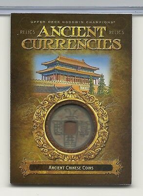 2017 UD Goodwin Champions Ancient Currencies Chinese Coin Relic RARE L@@K  CR-1