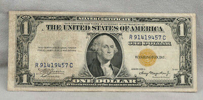 1935-A North Africa Yellow Seal $1 Silver Certificate! NO RESERVE!