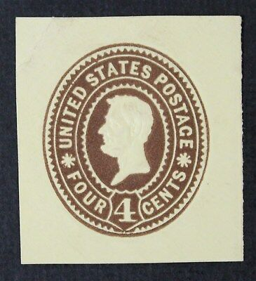 CKStamps: US Cut Square Stamps Collection Scott#U371 Unused H NG Lightly Crease