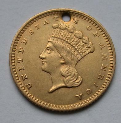 1862 $1 One Dollar United States Indian Princess Gold Coin