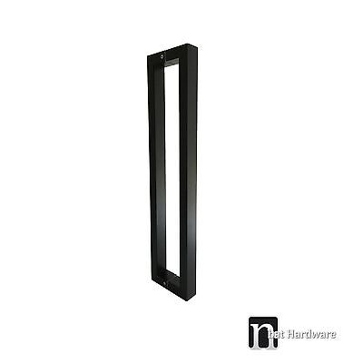"1 Pair Entrance Door Pull Handle ""Gilchrist"" 1200mm - Matt Black Finish"