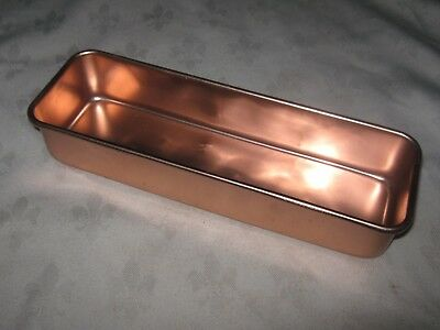 A Vintage Retro Peach Anodised Aluminium Rectangular Cake Tin
