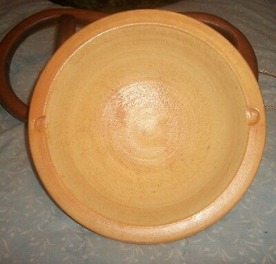 """T & S Harlander Brooklyn Tactile Two-Tone Art Pottery Bowl Canada 10.25"""""""