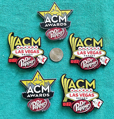 2017  52nd ACADEMY OF COUNTRY MUSIC AWARDS (ACM) FIVE (5) FRIDGE MAGNET LOT RARE