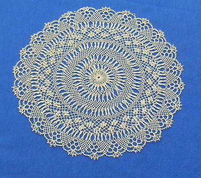 Antique  Armenian Needle Knotted Lace  Doily