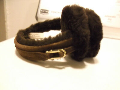 Womens Authentic Ugg Australia Brown Shearling Earmuffs Sz 0/s