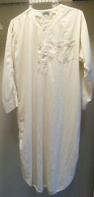 Circa 1950's Pleetway Night Shirt - Off White - Vintage