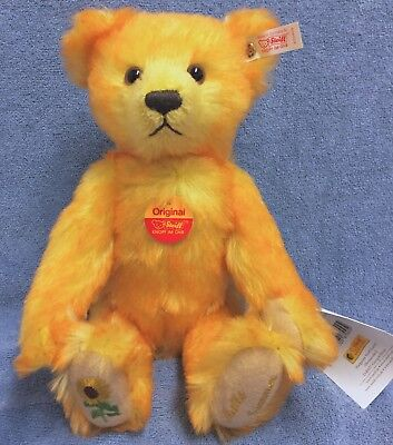 Steiff German Exclusive/White Tag 30cm Mohair SUMMER w Tulips on Paw Pads 2000