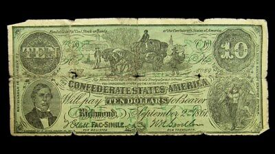 1912 National Publicity Co Advertising Note - Confederate Design - Not Money
