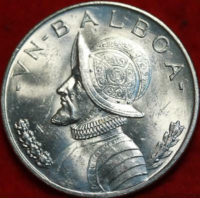 Uncirculated 1947 Panama Balboa Silver Foreign Coin Free S/H