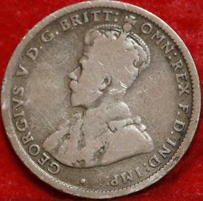 1917-M Australia Shilling Silver Foreign Coin Free S/H