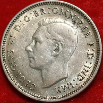 1942-S Australia Shilling Silver Foreign Coin Free S/H