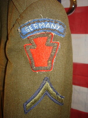 Wwii German Made Ike Jacket With Bullion 28Th Division Patch & Germany Tab