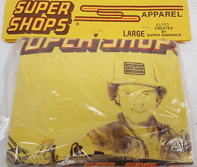 OLD Big Daddy Don Garlits Super Shops Yellow large T Shirt still in the new bag