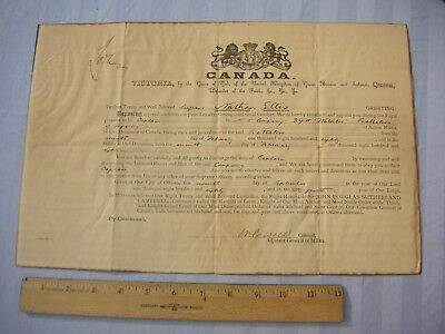 1880 CANADA MILITARY DOCUMENT Canadian 5th Company 29th Waterloo Battalion