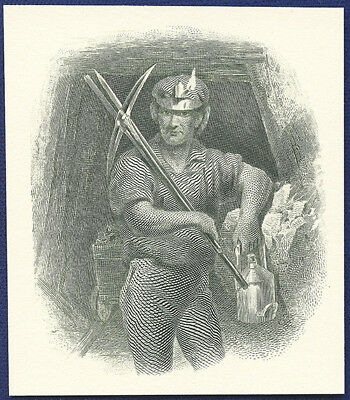 AMERICAN BANK NOTE Co. ENGRAVING: MINER #1