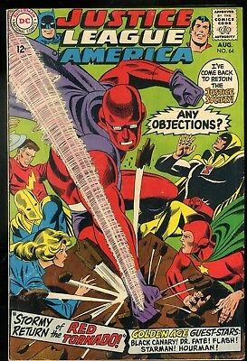 Justice League of America #64 Fine  Origin and 1st Appearance Red Tornado
