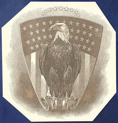 AMERICAN BANK NOTE Co. ENGRAVING: EAGLE IN FRONT OF SHIELD 35