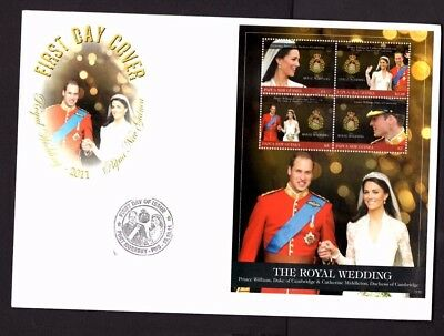 Papua New Guinea - 2011 Royal Wedding x 3 First Day Covers (20E)