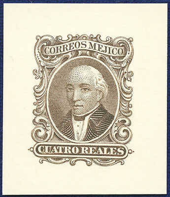 AMERICAN BANK NOTE Co. ENGRAVING: 1864 MEXICO POSTAGE 4 REALES