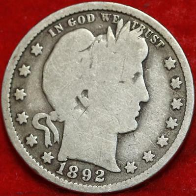 1892-O New Orleans Mint Silver Barber Quarter Free Shipping