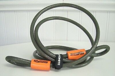 KRYPTONITE KRYPTOFLEX  7' foot 10MM BRAIDED STEEL BICYCLE LOCK SECURITY CABLE