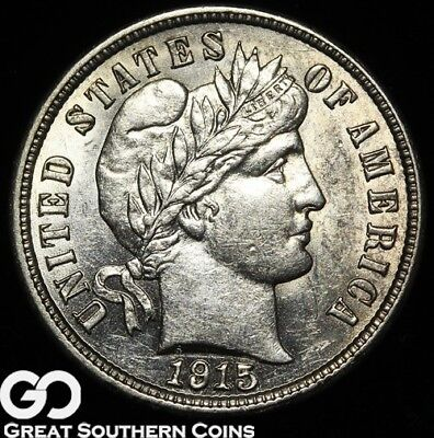 1915-S Barber Dime, Sharp and Lustrous!