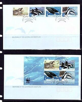 Australia - 2009 WWF Dolphins x 2 First Day Covers (20F)