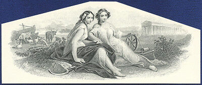 AMERICAN BANK NOTE Co. ENGRAVING: THE TWINS